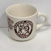 Vintage Mammoth Mountain California Coffee Mug Off White Brown Classic Logo Cup