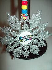 PERSONALISED AUTISM AWARENESS CHARITY CHRISTMAS TREE DECORATION SNOWFLAKE BAUBLE