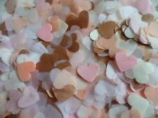2000+ Rose Gold, Peach, Pink, Ivory White Hearts Wedding Confetti Decoration
