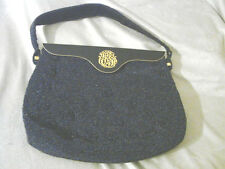 "Vintage Beaded Hand Bag Purse Charles Blair Paris Blue 6x8"" Clasp"