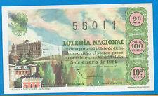 España Loteria Nacional del año 1962 edición facsimil (CO-240)