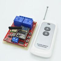 New 12V 24V 2CH Wireless Remote Control Switch Wifi Switch RF 433MHz Receiver
