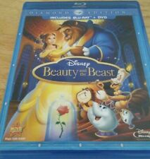 Disney Beauty and the Beast (Blu-ray, 2-Disc Set, Diamond Edition) NO DC/DVD