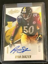 2014 Panini Absolute RYAN SHAZIER Gold RC AUTO #02/25 Made Steelers Spectrum