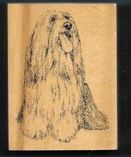 Bearded Collie Dog Breed House Pet Puppy Stamp Gallery New Wood Mount Rubber