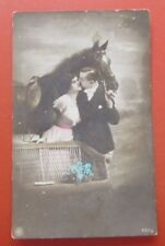 Kiss, Lovers, Hug, Hat in hand, Flowers and Book on Cannabis Horse NPG 693/2