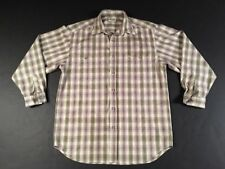 Men's Plaid Long Sleeve Dress Shirt by Guess Jeans - Size Small