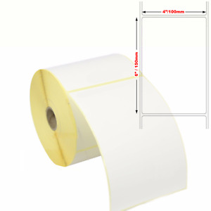 """Large Self Adhesive Sticky Labels 150mm x 100mm 6"""" x 4"""" Address Thermal White"""