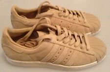 ADIDAS SUPERSTAR 80S BEIGE SUEDE TRAINERS - BRAND NEW WITHOUT THE BOX - SIZE 4