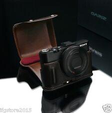 New GARIZ X100F Leather Half Case + Cover Set Brown For Fujifilm X100F Case