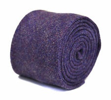 Henry Harris tweed tie in purple with pheasant on rear RRP £79.99 HH108