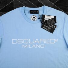 Dsquared2 T Shirt Milano Logo Print M New For Men Casual Blue 100% Genuine