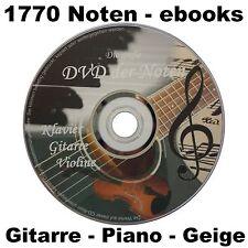 NOTEN für Klavier Gitarre Violine 1770 ebooks Piano Geige DVD ebook SAMMLUNG neu