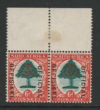 SOUTH AFRICA 1935-49 6d (I) WITH 'TOP OF TREE EXTENDED' SG O24 MNH/ MINT.