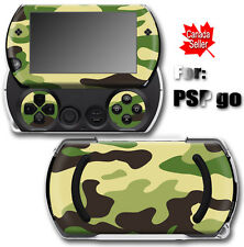 Green Camouflage SKIN STICKER COVER for SONY PSP Go