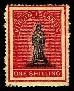1867-70 Virgin Islands #7 St. Ursula Unwmk - OGHR - F/VF - CV$300.00 (ESP#3374)