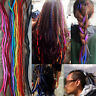 Fashion 100% Wool Handmade Dreadlocks Extensions Braid Dreads Hair Multi Colors