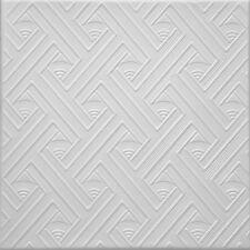 Styrofoam Decorative Ceiling Tile Glue Up over popcorn 24 tiles~65 sq.ft. #RM-64