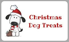 CHRISTMAS DOG TREATS LABELS CUTE HOMEMADE GREETINGS STICKERS GIFT PRESENTS FUN