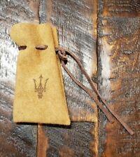 Vintage Authentic Genuine Leather Maserati Key Bag Holder Keychain Free Shipping