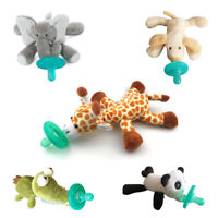 Cute Stuffed Animal Attached Silicone Material Baby Pacifier Infant Baby Soother