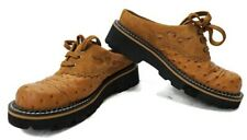 Ariat 15428 Women's Size 6 B Tan Ostrich Print Lace Up Round Toe Western Mules