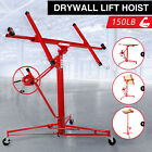 11FT Drywall Lift Panel Hoist Sheetrock Plasterboard Jack Lifter Rolling Tool
