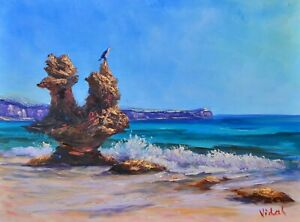 Drying up - at Vivonne Bay, Kangaroo Island painting by Chris Vidal