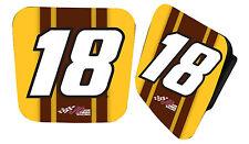 NASCAR #18 KYLE BUSCH Rubber Trailer Hitch Cover-NASCAR Hitch Cover
