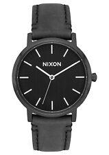 Nixon A1199-2345 Porter 35 Black Leather Unisex Watch