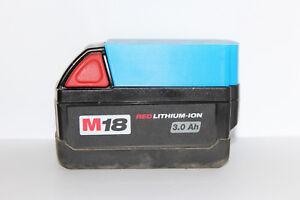 Blue battery holder / cover for Milwaukee M18 18v