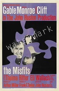 MARILYN MONROE - 1961 - THE MISFITS - 12X18 INCH MOVIE POSTER COLLECTABLE