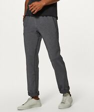 Lululemon Men Discipline Exercise Pants Trousers Heathered Black Grey Large