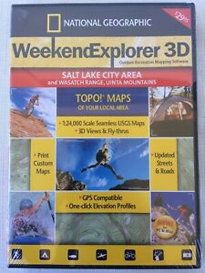 New 2007 National Geographic TOPO! Outdoor Mapping Software - Salt Lake City