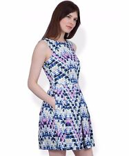BNWT £52 Closet Geo Floral Print V-Back dress size 10 38 fit and flare wedding