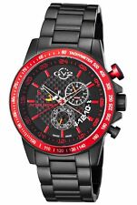 GV2 by Gevril Men's 9906 Scuderia Black IP Stainless Steel Wristwatch