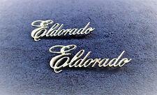 1979-85 CADILLAC ELDORADO ROOF PILLAR EMBLEMS OEM (2 PIECES)