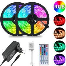 1-20M LED Stripe 5050 RGB Band Streifen Lichtleiste Dimmbar Leuchte Lichterkette