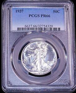 1937 Walking Liberty Half Dollar PCGS PR66 Blast White Proof Gorgeous PQ #GE79