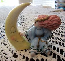 "Fitz & Floyd ""Moon Beams"" Salt & Pepper Nib Lovely Angel On Moon Beam #2063/291"