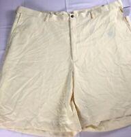Haggar Shorts Mens 48 NEW Golf Casual Casual Yellow Cool Soft Polyester Guys