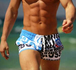 Men's Cotton Blend Swim Trunks Board Beach Short Swimwear Household Wear Shorts