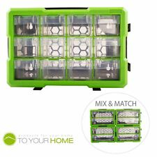 Dihl 12 Compartment Interlocking Parts Storage Organiser Cabinet Screws Tool Box