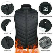 Electric Vest Heated Cloth Jacket USB Warm Up Heating Pad Body Warmer Women Mens