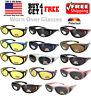 ANTI GLARE POLARIZED Sunglasses Wear Worn Fit Over RX Glasses Yellow / Dark Lens
