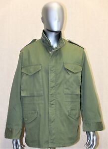 VINTAGE REPRO US ARMY KAKI M65 FIELD COLD WEATHER COMBAT JACKET LARGE made in US
