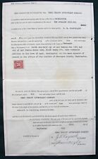 Omak Washington orig 1924 Real Estate Sale Indenture - Laycock & Courtright