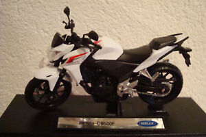 Honda CB 500 F 2014 White WELLY 1:18