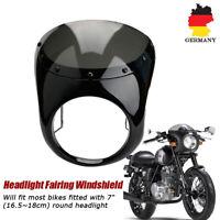 """Universal 7""""Motorrad Scheinwerfer Verkleidung Lampenmaske für Cafe Racer Schwarz"""