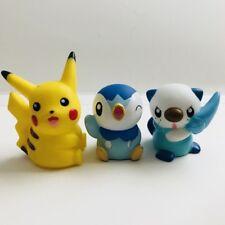 Pikachu Piplup Oshawott Pokemon Nintendo Bandai 3 Figuras De Juguete De Colección Conjunto de Arranque C
